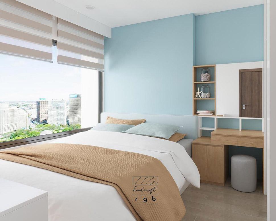 Mẫu phòng ngủ bố mẹ phong cách hiện đại trẻ trung