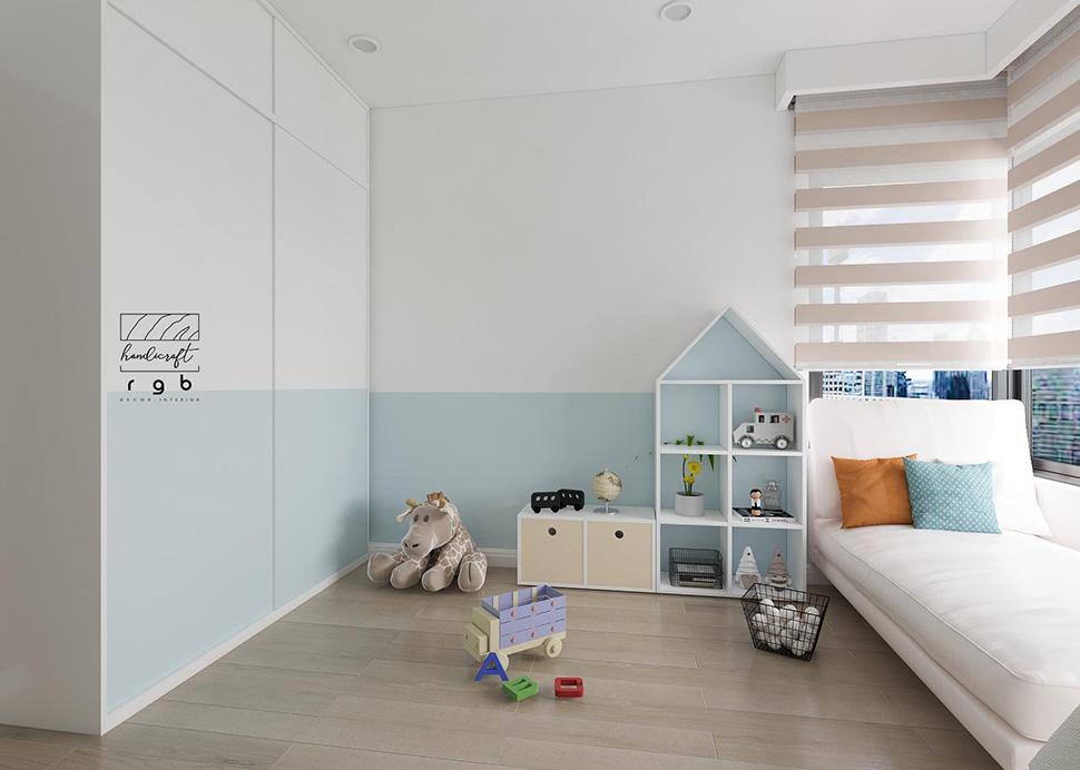 phòng ngủ con trai chung cư