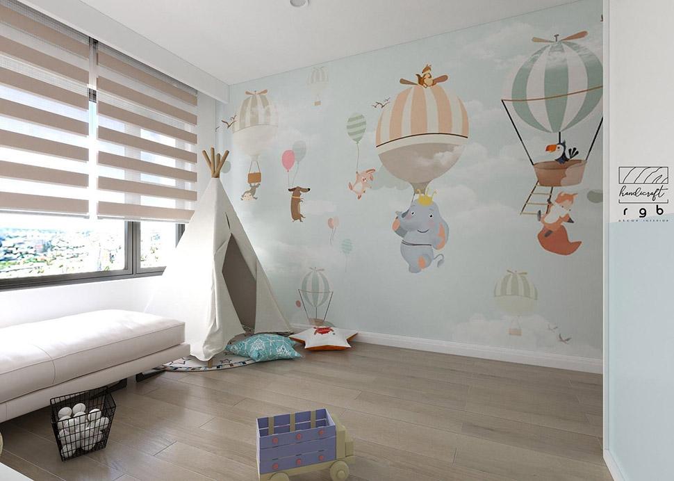 Họa tiết dán tường ngộ nghĩnh sẽ giúp bé hứng thú, ngủ ngon hơn
