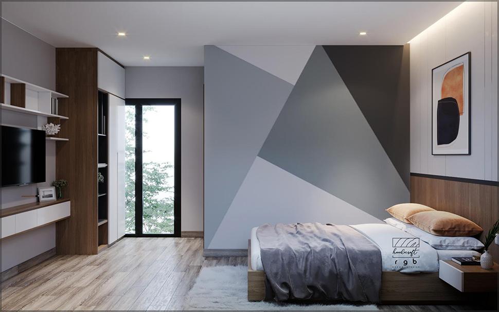 Nội thất phòng ngủ ngăn nắp, gọn gàng