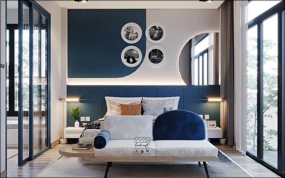 Phòng ngủ màu sắc nổi bật, cá tính