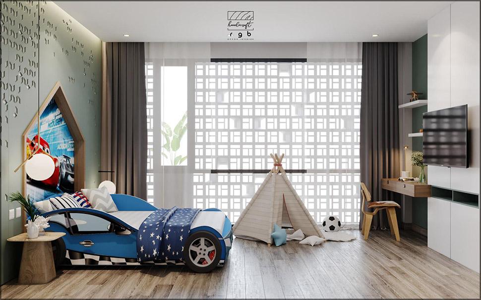 Mẫu thiết kế phòng ngủ cao cấp phong cách hiện đại