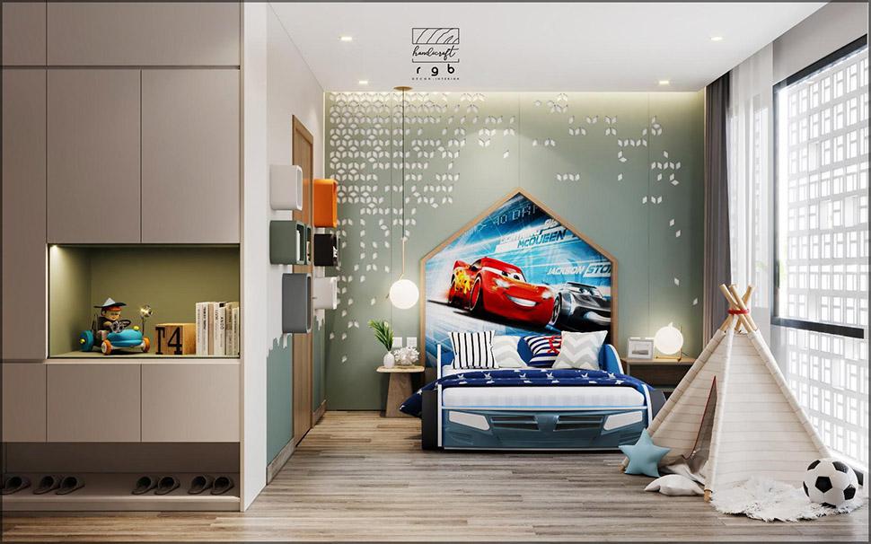 Phòng ngủ cho bé trai cá tính