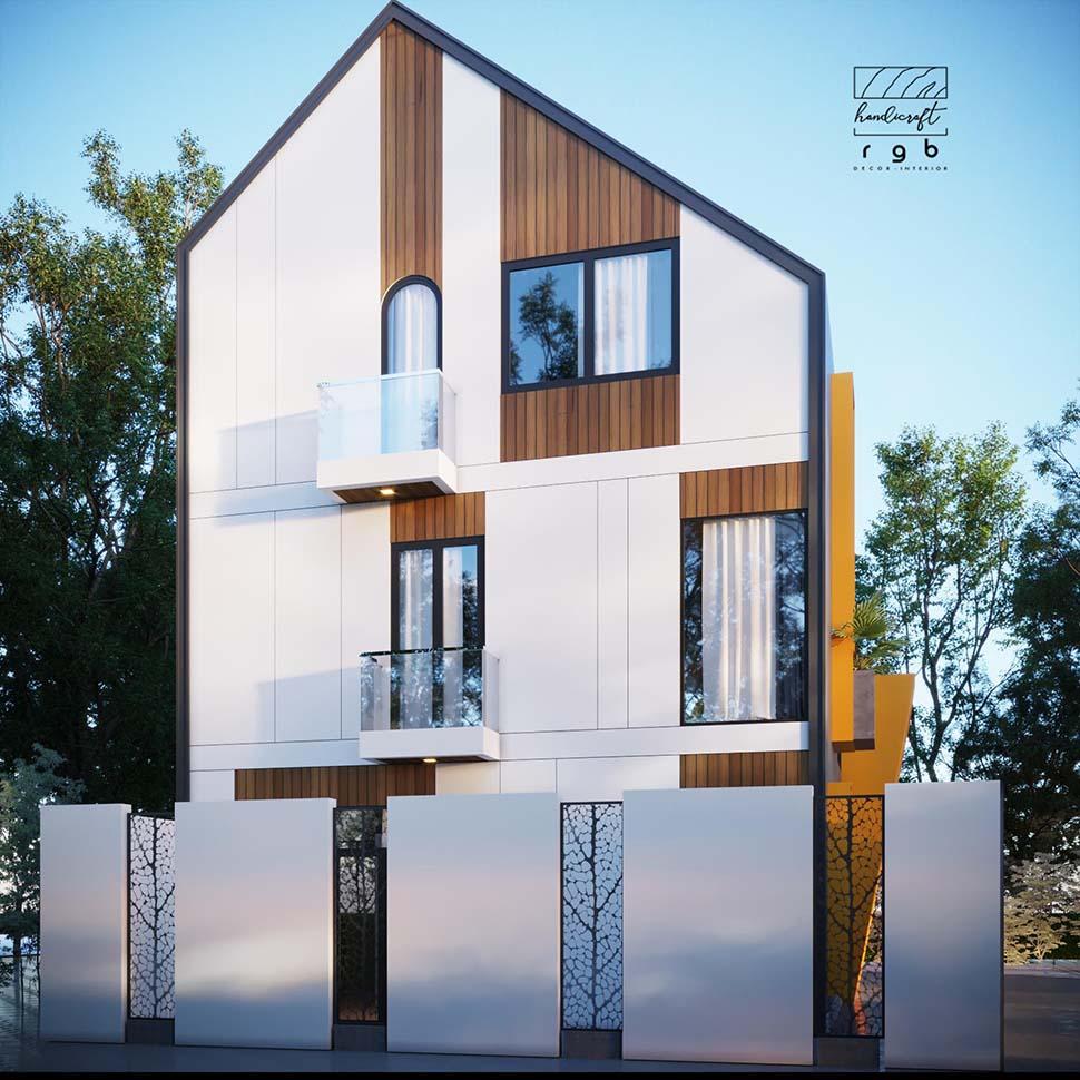 Kiến trúc nhà phố phong cách hiện đại độc đáo