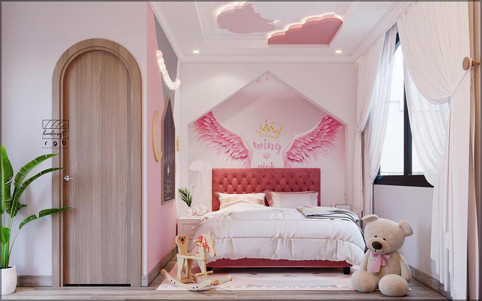 Phòng ngủ bé gái ngọt ngào