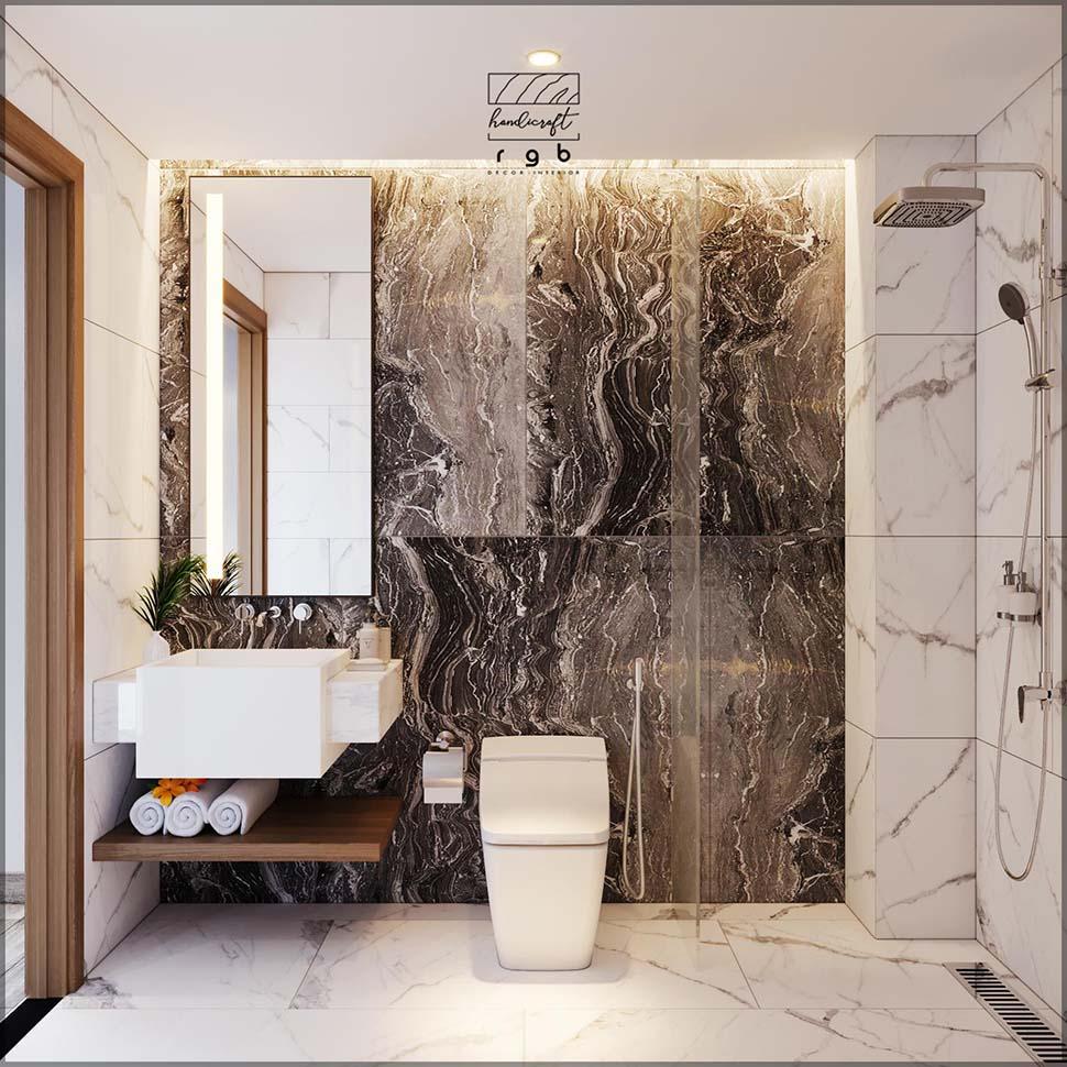 Mẫu thiết kế phòng WC tiện nghi