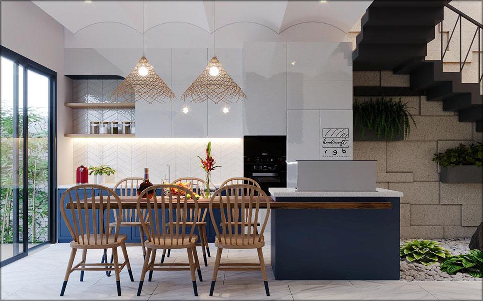 Phòng bếp thiết kế ngăn nắp, gọn gàng