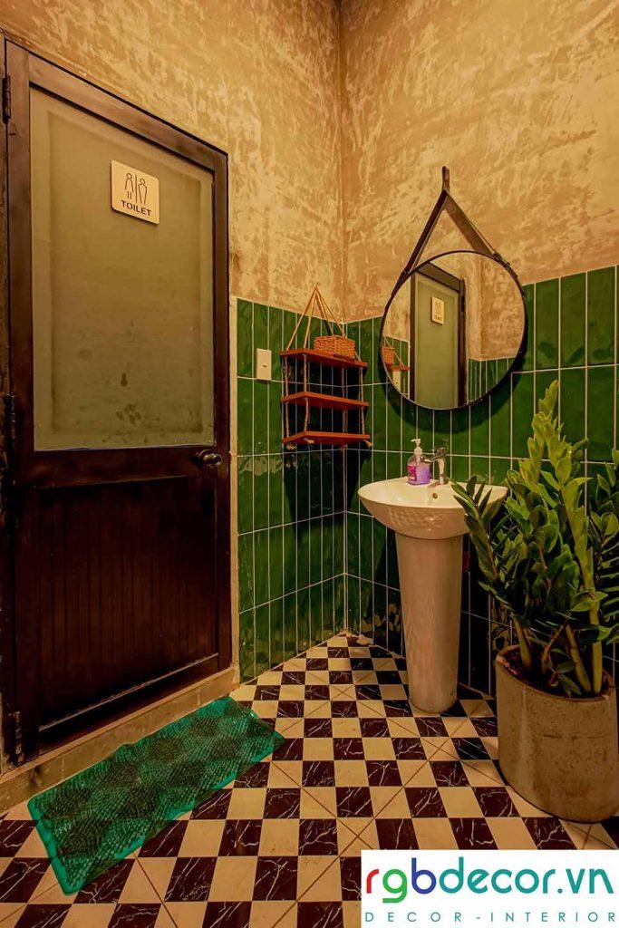 Thiết kế phòng WC rất ấn tượng và bắt mắt