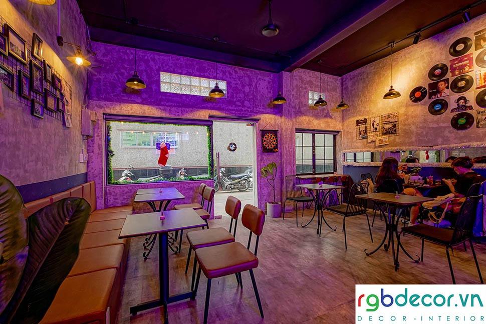thiết kế quán cafe âm nhạc