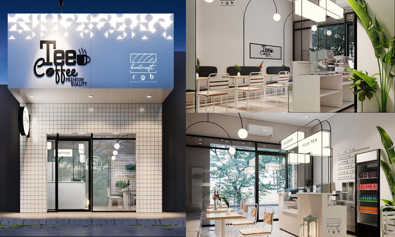 mẫu thiết kế quán cafe nhỏ