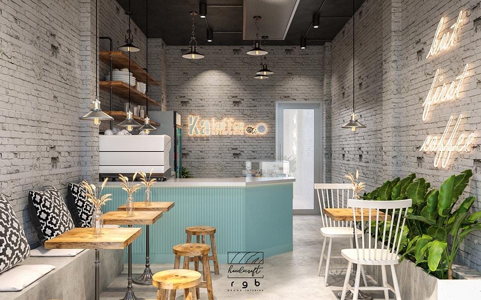 thiết kế quán cafe sân vườn diện tích nhỏ