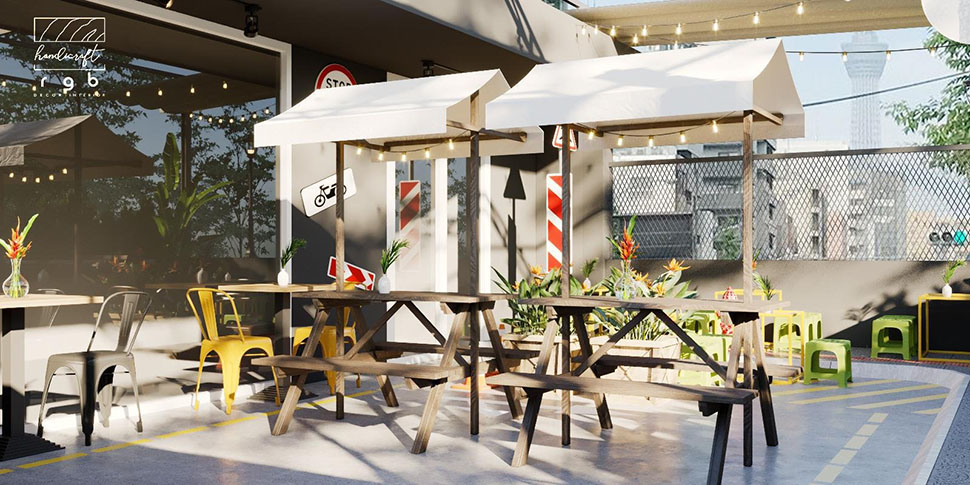 Khu vực quán ăn ngoài trời