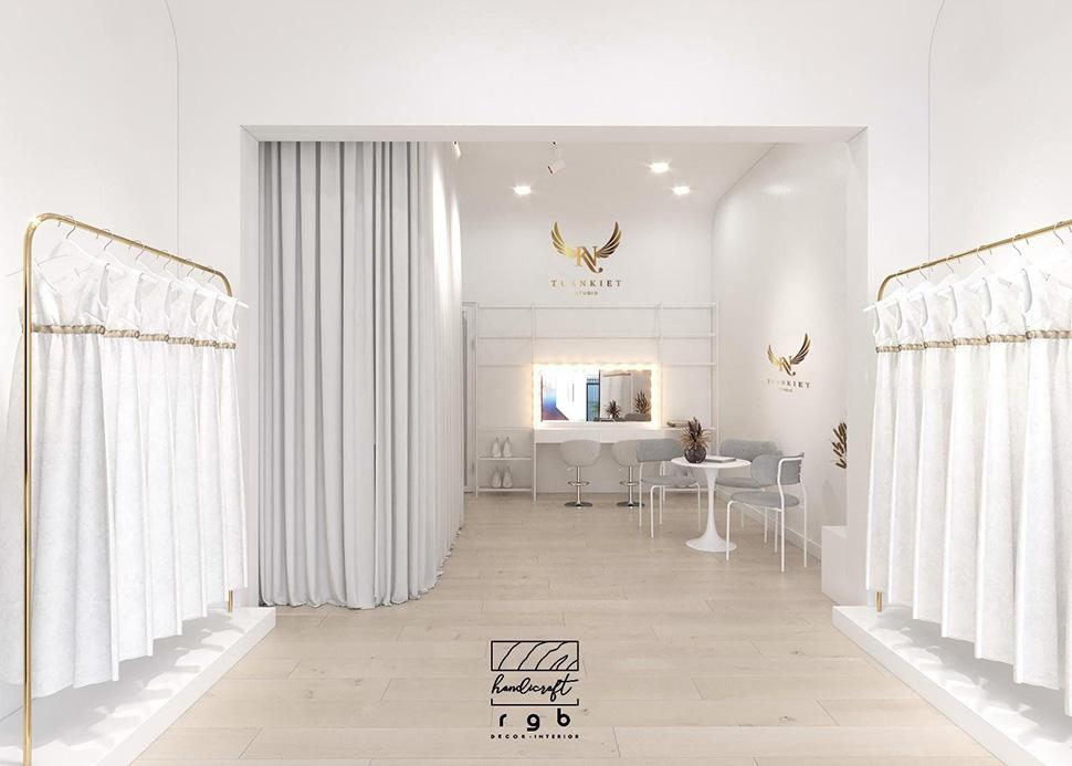 thiết kế studio áo cưới nhỏ