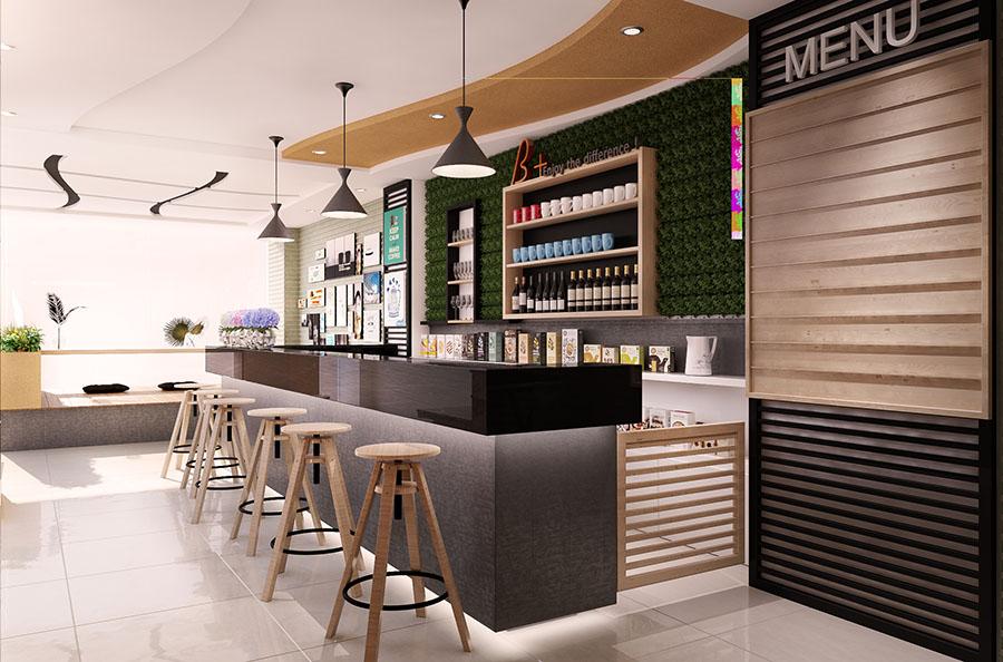 thiết kế quán cafe bar