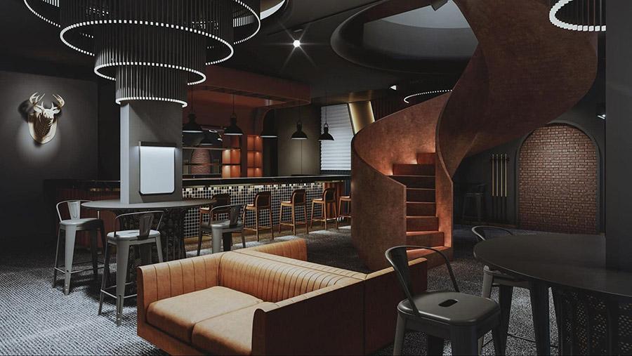 Không gian kinh doanh cafe