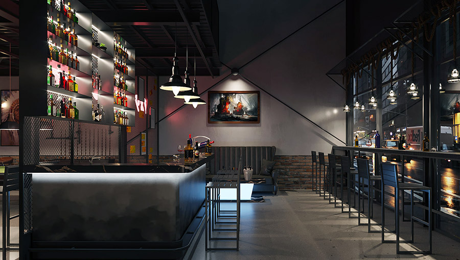 Quầy bar quán cafe bida