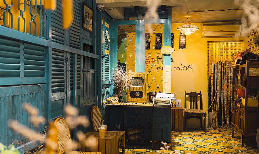 Không gian quán cafe phong cách hoài cổ