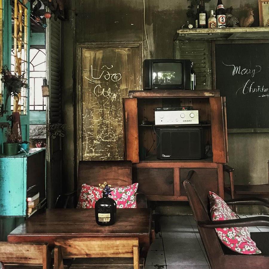 Một góc nhỏ trong quán cafe