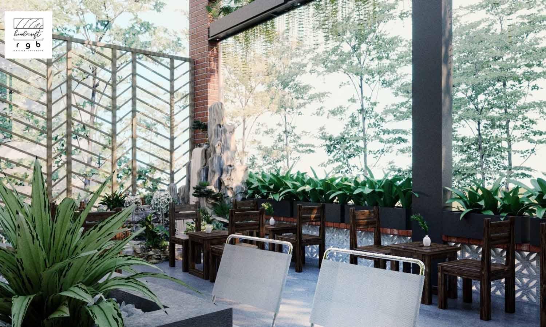 Mẫu thiết kế không gian quán cafe ngoài trời