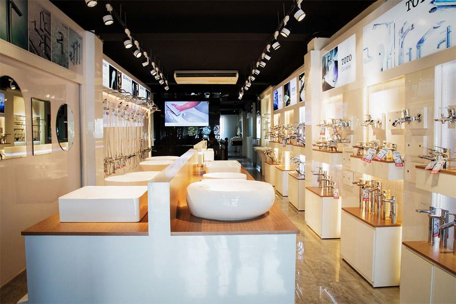 showroom trưng bày thiết bị vệ sinh