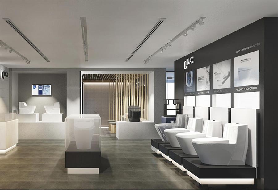 Không gian showroom trưng bày