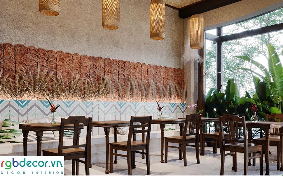 Phối cảnh không gian nội thất nhà hàng