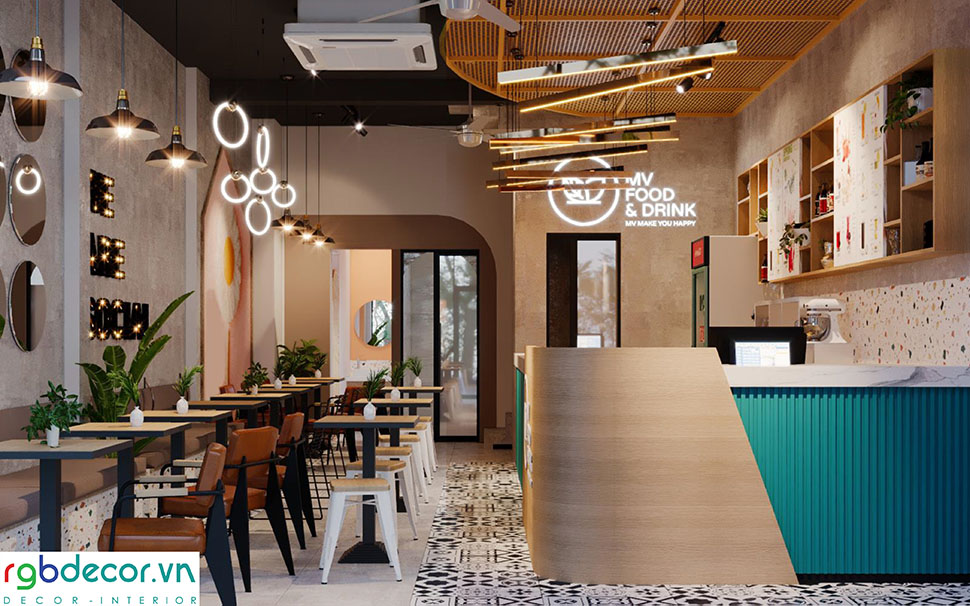 Đèn trang trí quán cafe