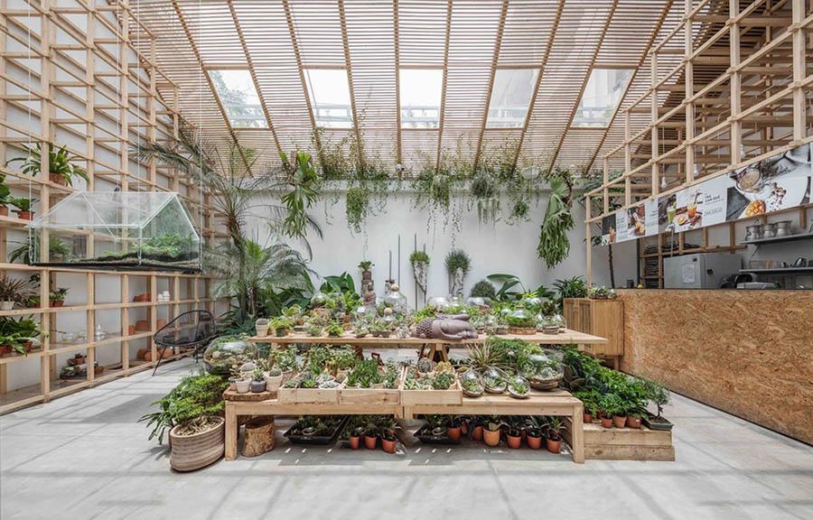 Mô hình thiết kế quán cafe vườn