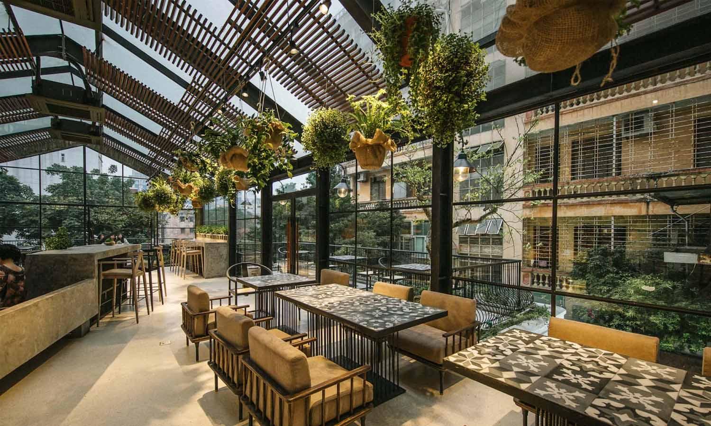 quán cafe cây xanh