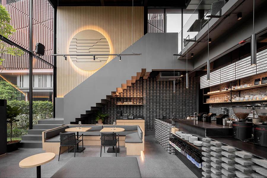 thiết kế quán cafe hàn quốc