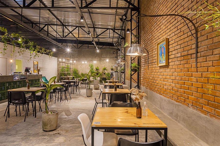 Bản vẽ 3D của quán cafe