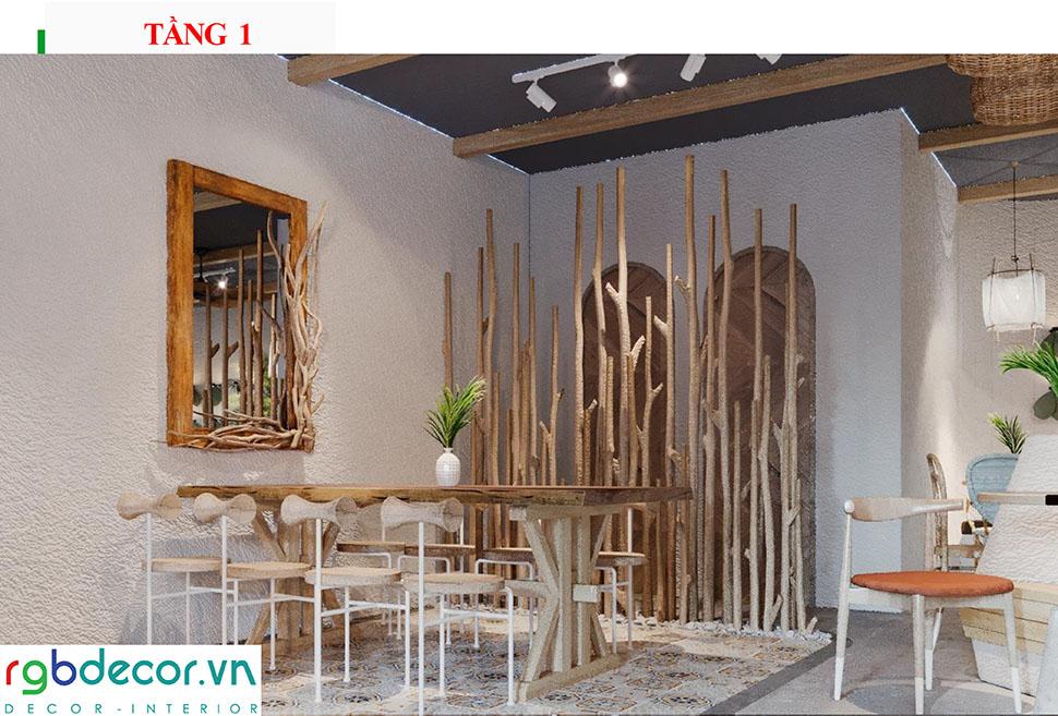 thiết kế quán cafe view đẹp