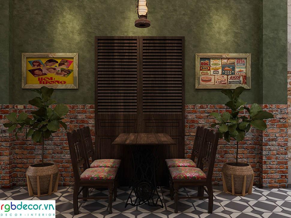 view quán cafe vintage