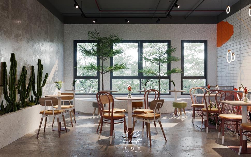 nội thất quán cafe diện tích nhỏ