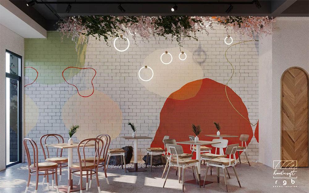 màu sắc quán cafe