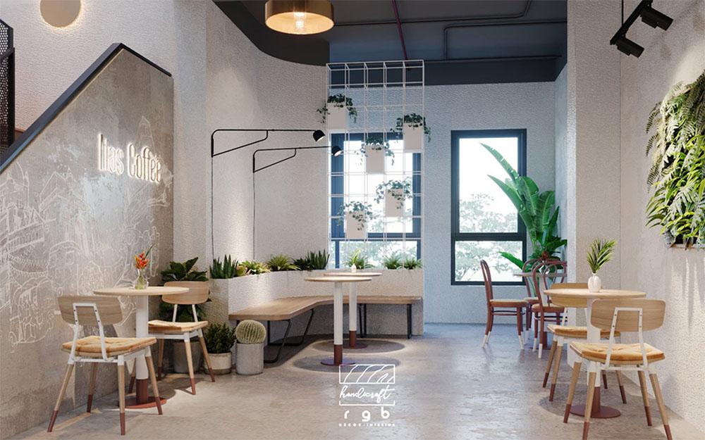 quán cafe diện tích nhỏ