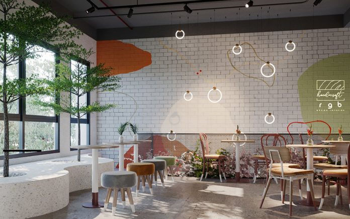 không gian quán cafe